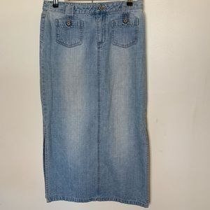 Union bay denim long skirt